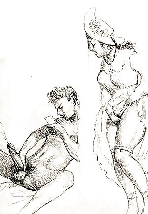 Vintage Erotic Sketch Collection