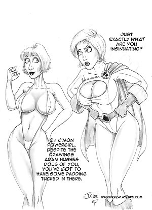 Thong girl meets Power Girl
