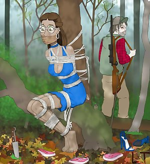Heavy rope bondage highlights the artwork of Louis Tarado