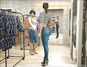 3D sexy shemale ass